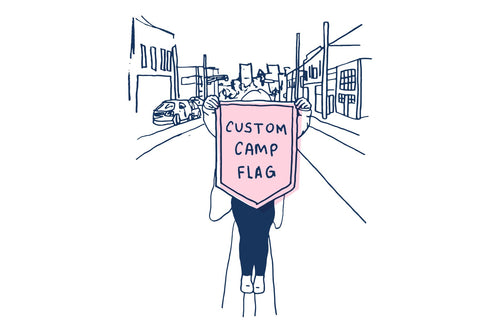 """2021 - Custom One-Off Camp Flag - 18""""x24"""" Five-Sided - PS"""