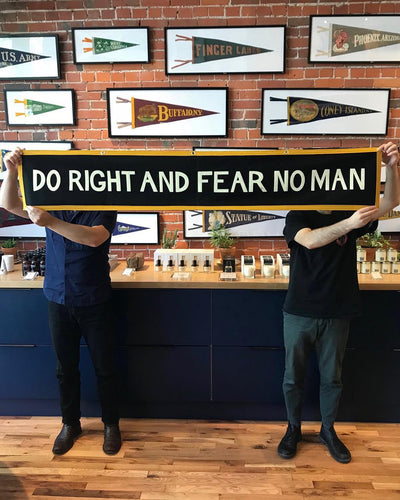 Do Right And Fear No Man Championship Banner