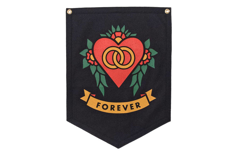 Forever Wedding Camp Flag • Oxford Pennant Original