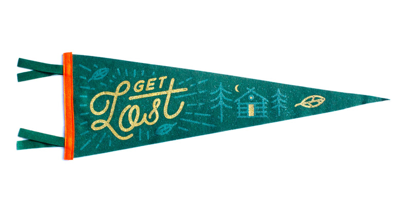 Get Lost Pennant - Lost Lust Supply • Oxford Pennant Original