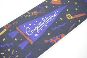 Oxford Pennant - Greeting Card & Matching Mini Pennant - Congratulations!