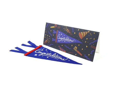 Congratulations! - Greeting Card & Matching Mini Pennant