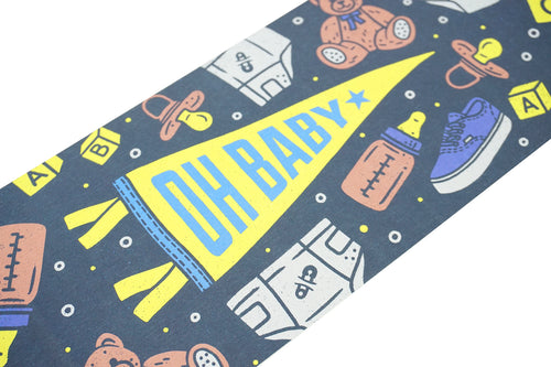 Oh Baby - Greeting Card & Matching Mini Pennant
