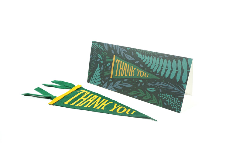Oxford Pennant - Greeting Card & Matching Mini Pennant - Thank You