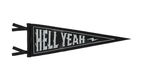 Hell Yeah Pennant •  Lost Lust Supply x Oxford Pennant Original
