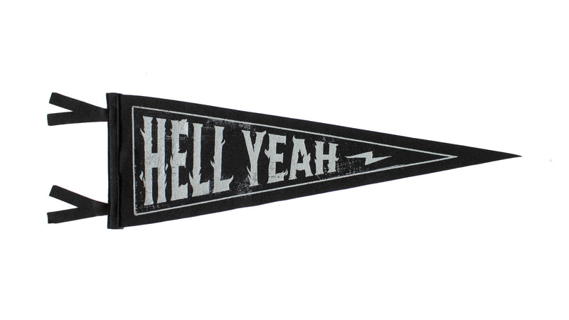 Hell Yeah Pennant - Lost Lust Supply • Oxford Pennant Original