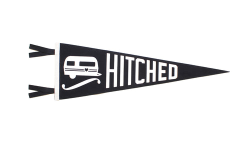 Hitched Wedding Pennant