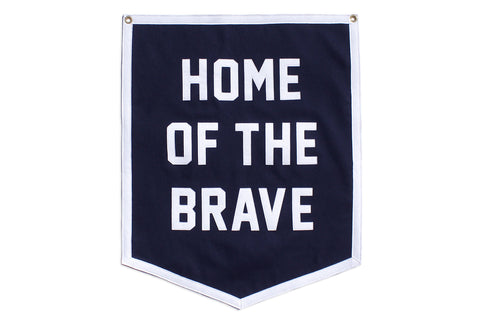 Custom Home of the Brave Championship Banner • Oxford Pennant