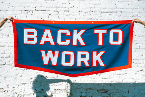 Back To Work Championship Banner