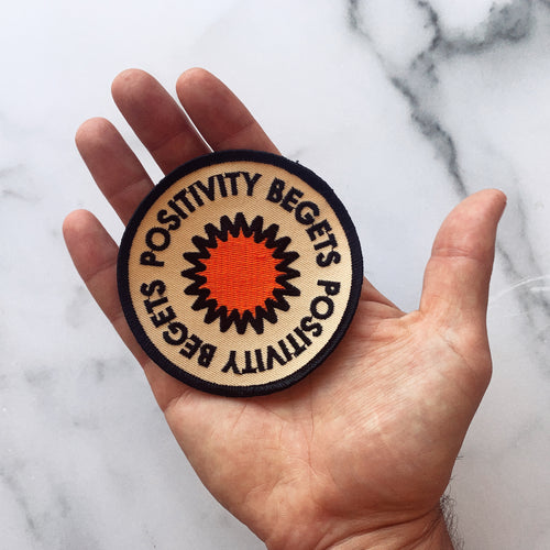 Positivity Embroidered Patch • Real Fun, Wow! x Oxford Pennant