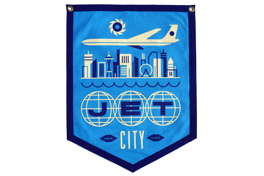 Jet City Camp Flag • Invisible Creature x Oxford Pennant x Freeman