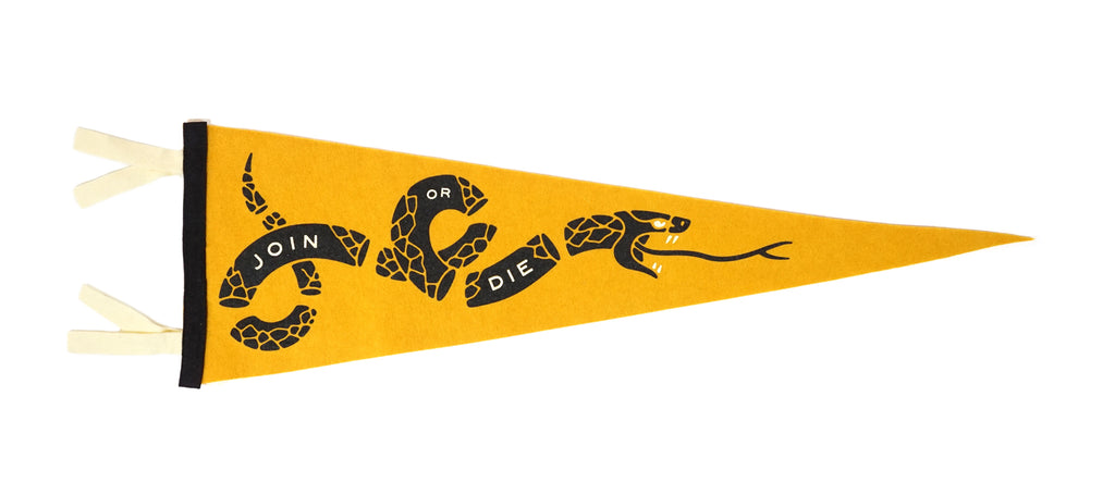 Join Or Die Pennant • United By Blue x True Hand Society x Oxford Pennant Original