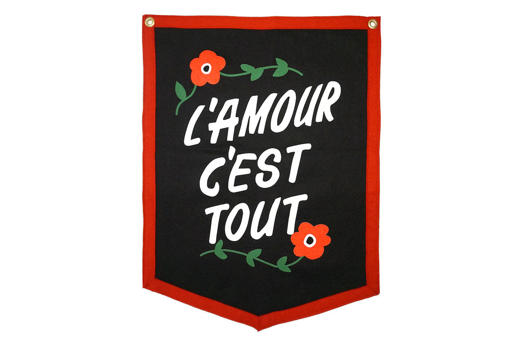 L'amour C'est Tout Camp Flag • Oxford Pennant Original
