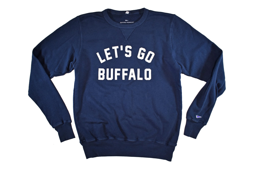 Let's Go Buffalo Crew Neck Sweatshirt • Oxford Pennant Original