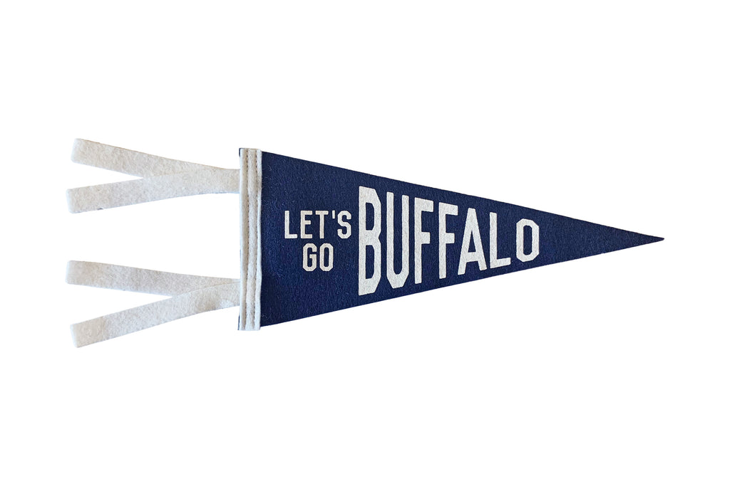 Let's Go Buffalo Mini Pennant • Oxford Pennant Original