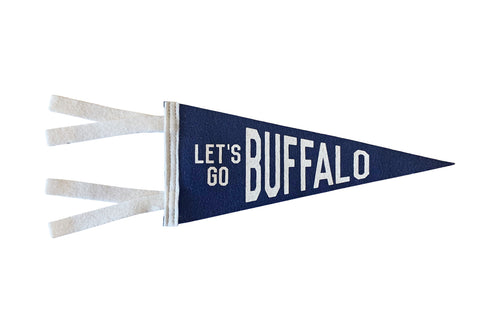 Let's Go Buffalo Mini Pennant
