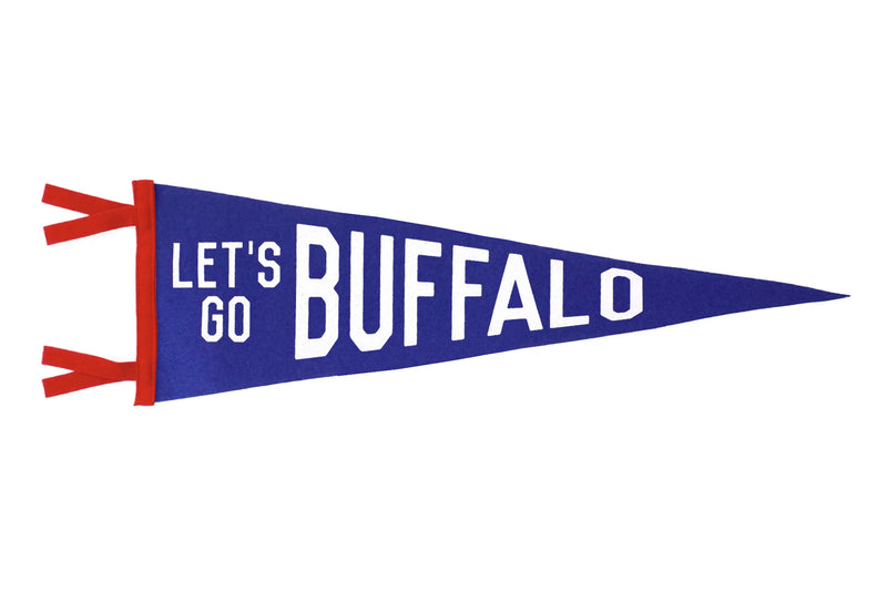 Let's Go Buffalo Pennant (Blue and Red) • Oxford Pennant Original