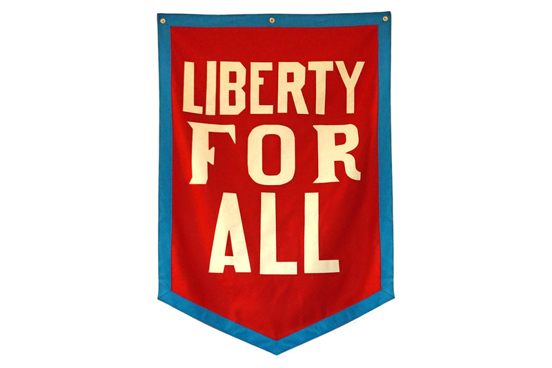 Liberty For All Championship Banner • Chrome Yellow x Office of Brothers x Oxford Pennant Original