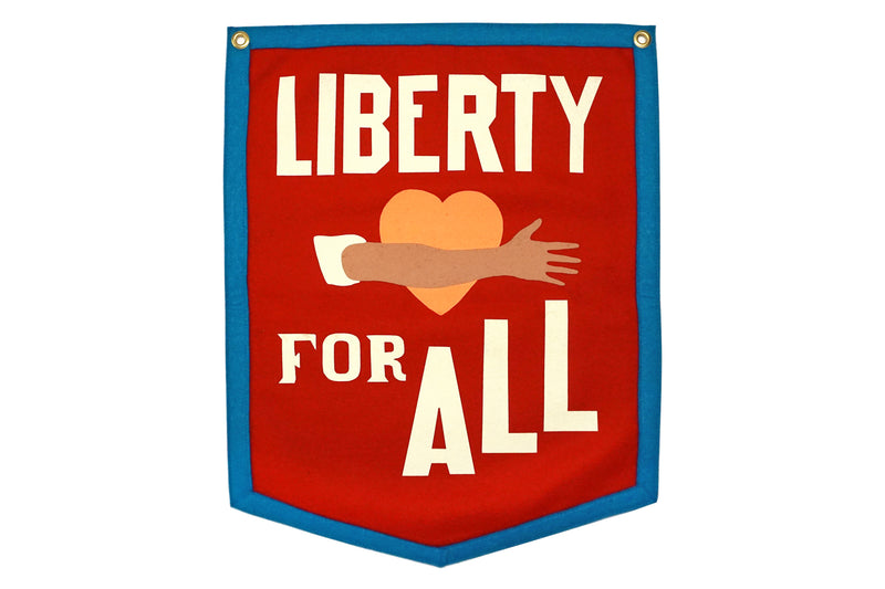 Liberty For All Camp Flag • Chrome Yellow x Office of Brothers x Oxford Pennant Original