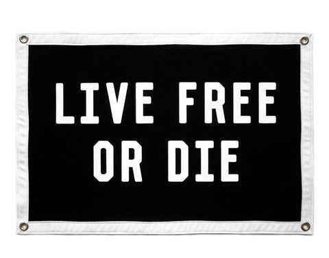 Live Free or Die Camp Flag • Oxford Pennant Original