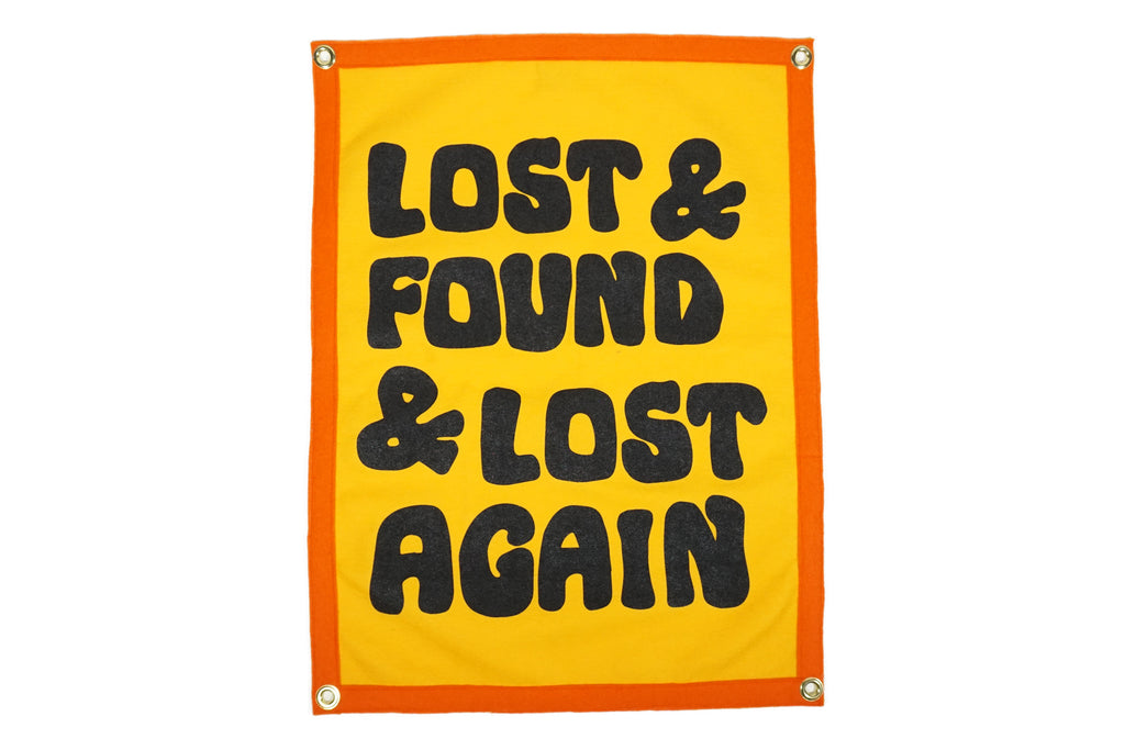 Lost Found Lost Again Camp Flag  E2 80 A2 Chrome Yellow X Office Of Brothers X