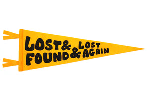 Lost & Found & Lost Again Pennant • Chrome Yellow x Office of Brothers x Oxford Pennant Original