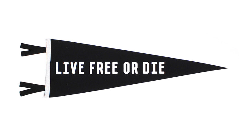 Live Free or Die Pennant - Iron & Air Supply • Oxford Pennant Original
