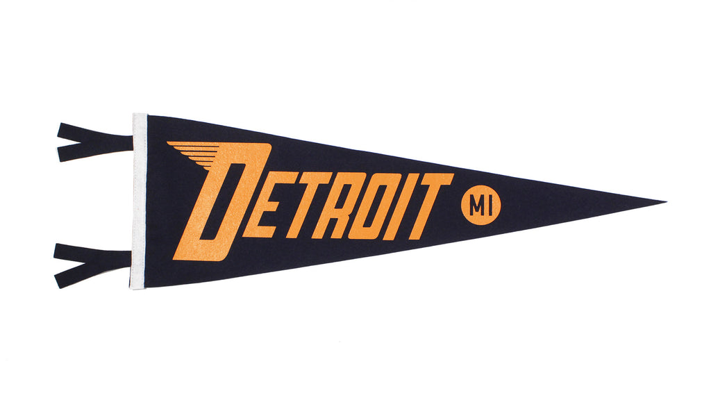 Detroit, MI Pennant - Michigan • Oxford Pennant Original