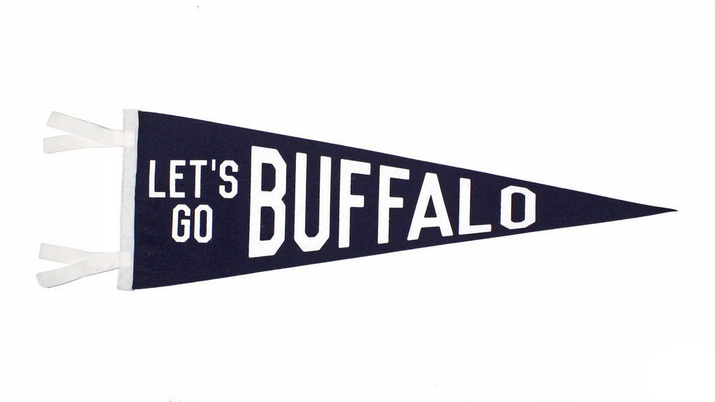 Let's Go Buffalo Pennant - Western New York • Oxford Pennant Original