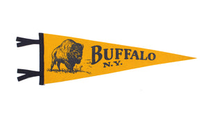 Illustrated Buffalo, NY Pennant - New York • Oxford Pennant Original