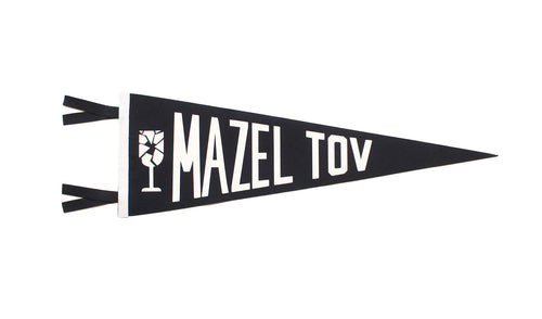 Mazel Tov Wedding Pennant
