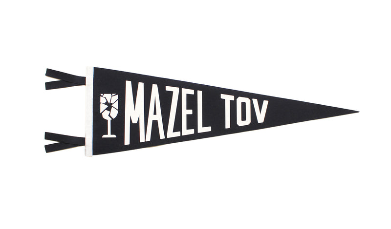 Mazel Tov Wedding Pennant • Oxford Pennant Original