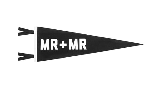 Mr + Mr Wedding Pennant