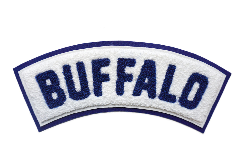 Oxford Pennant - Buffalo Rocker Chenille Patch
