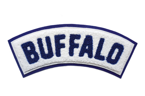 Buffalo Rocker Chenille Patch