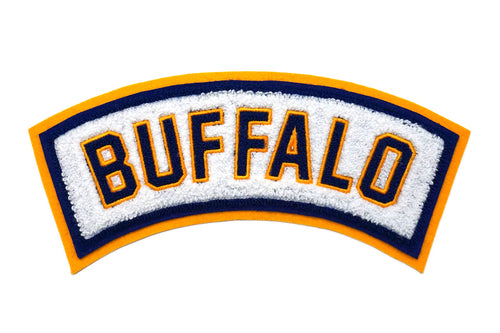 Buffalo Rocker Gold Chenille Patch
