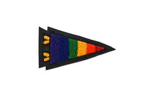 Oxford Pennant - Pride Pennant Chenille Patch