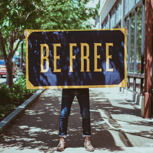 Be Free Banner • United By Blue x True Hand Society x Oxford Pennant Original