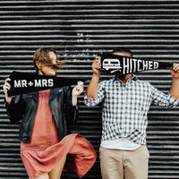 Hitched Wedding Pennant • Oxford Pennant Original