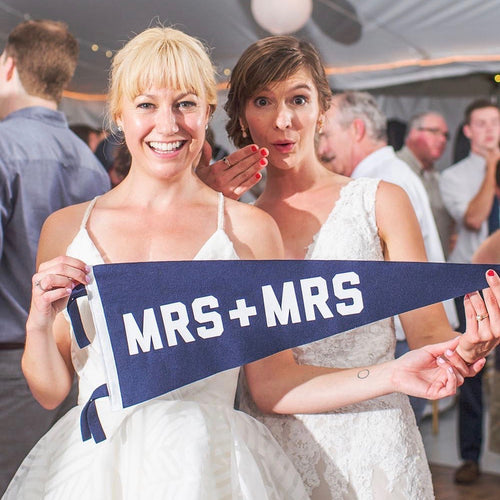 Mrs + Mrs Wedding Pennant