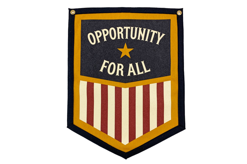 Opportunity for All Camp Flag • Oxford Pennant Original