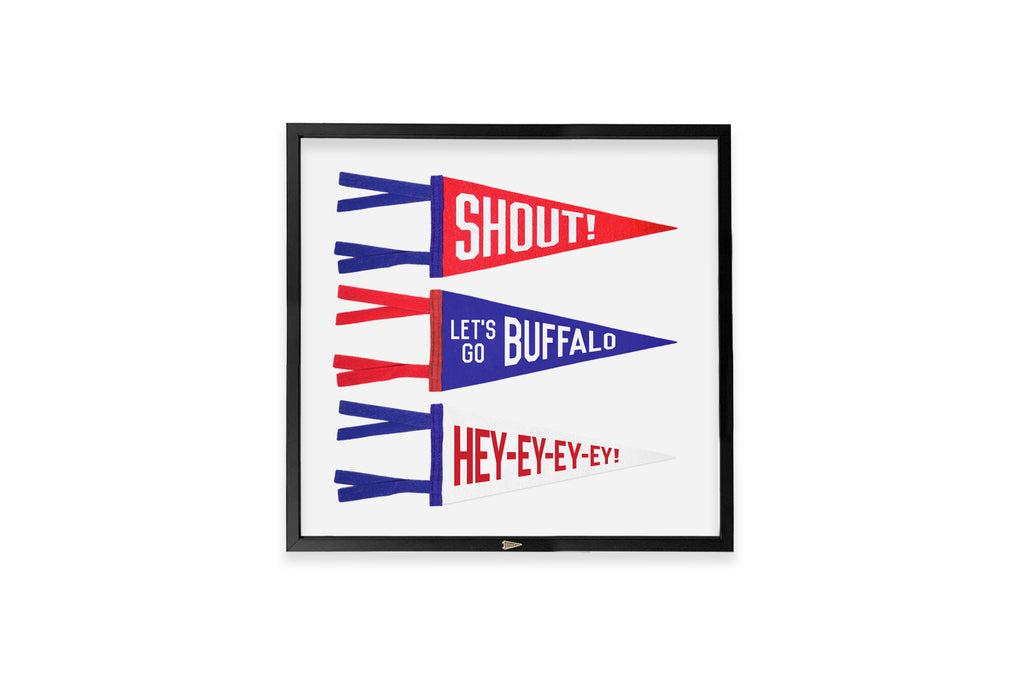 Framed Playoff Mini Pennants  • Oxford Pennant Original