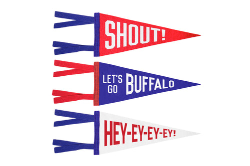 Buffalo Mini Pennants