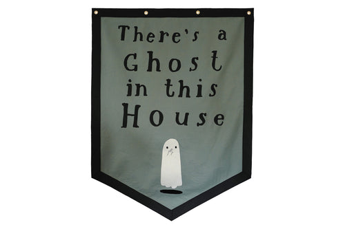There's a Ghost in this House Banner • Oliver Jeffers x Oxford Pennant