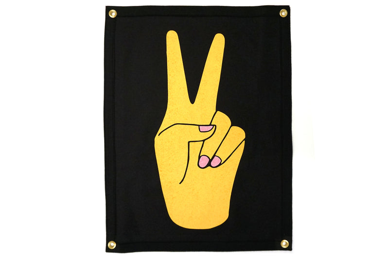 Peace Sign Camp Flag • Oxford Pennant Original