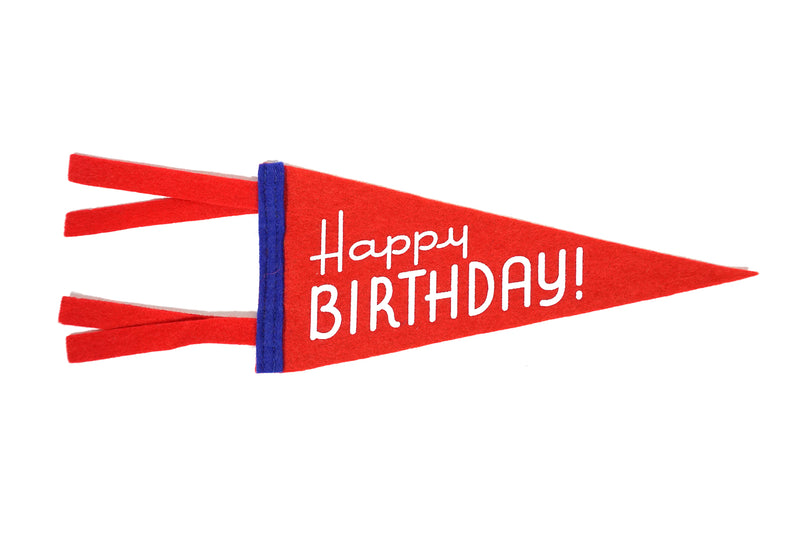 Oxford Pennant - Greeting Card & Matching Mini Pennant - Happy Birthday!