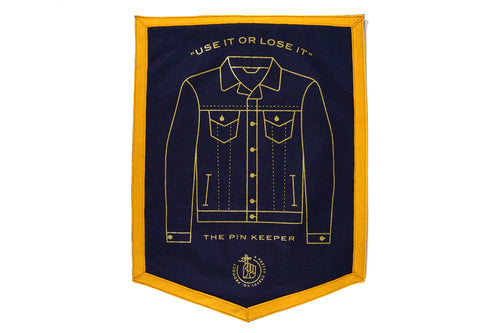 Pin Keepers - Denim Jacket Camp Flag • Pretty Useful Co. x Oxford Pennant Original