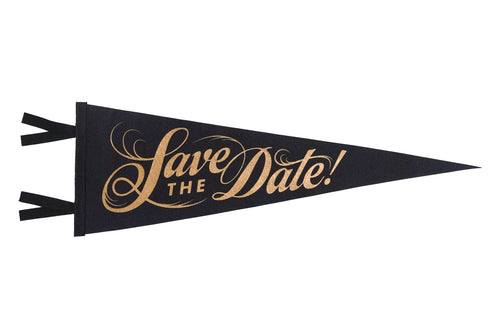 Save The Date Wedding Pennant
