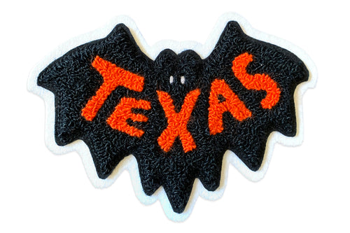 Small Texas Bat Chenille Patch