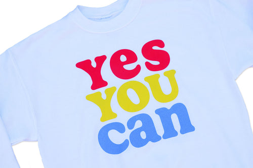Kelle Hampton x Oxford Pennant - Yes You Can Kid's Crewneck